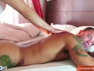 In spite of him: Vick's cock (gym trainer) gets serviced