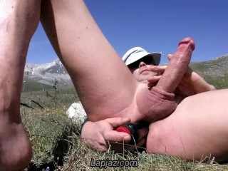 Anal orgasm in the mountains