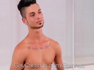 GayCastings First time fuck on film for amateur Gabriel Knight