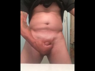 Playing in the bathroom