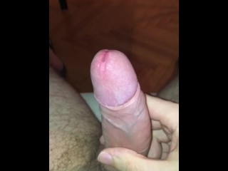 Thick White Cum Oozing Down My Shaft