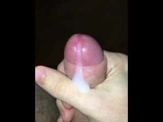 another recent wank session ends with a white stream of cum down my cock