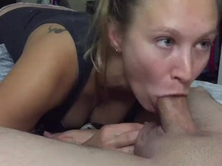 iPhone 1080p 60 FPS - Amateur wife bedroom Blowjob