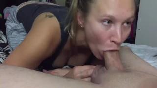 iPhone 1080p 60 FPS - Amateur wife bedroom Blowjob