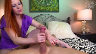 Ginger Milf Uses Cock for Her Pleasure [LADY FYRE FEMDOM]  olivia fyre hairy pussy ginger redhead femdom mom blowjob cum handjob kink edging mother edge play bush ruined orgasm femdom sex