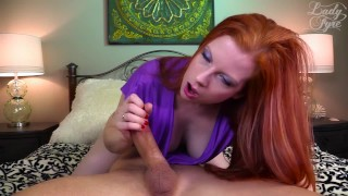 Ginger Milf Uses Cock for Her Pleasure [LADY FYRE FEMDOM]  olivia fyre femdom sex bush hairy pussy ginger redhead femdom mom blowjob cum handjob kink edging mother edge play ruined orgasm
