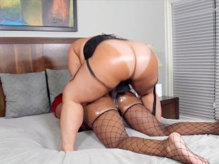 bubble butt ebony babe pinky gets dildo fucked by her girlfriend