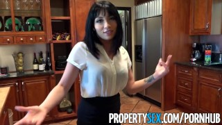 PropertySex - Real estate agent fucks her husband's brother  real estate agent raven babe small blowjob cumshot small tits missionary propertysex cowgirl petite drilled facial doggystyle pussy licking stunning