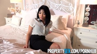 PropertySex - Real estate agent fucks her husband's brother  real estate agent raven babe blowjob cumshot small tits missionary propertysex cowgirl petite drilled facial doggystyle pussy licking stunning small