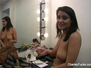 Behind the scenes on set with Charley Chase