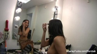 Preview 1 of Behind the scenes on set with Charley Chase