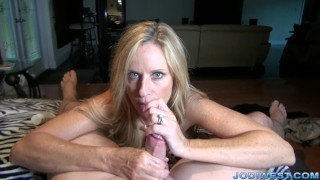 jodiwest big tits mom mother handjob point of view teasing stripping big boobs bigtits wanked hj stroking dick tug hot mom cumshot