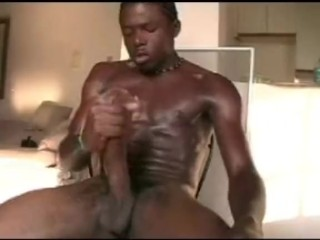 BARELY LEGAL JERKING OF BIG BLACK DICK PT 2
