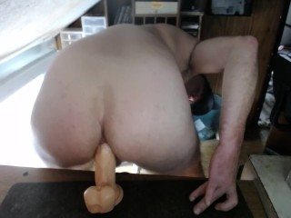 Getting My Ass Reamed out by Huge Fat Dildo
