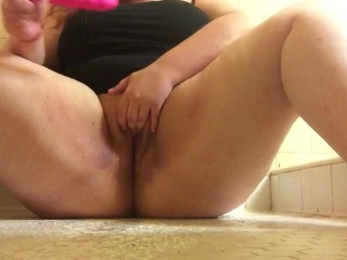 Squirting with my new toy