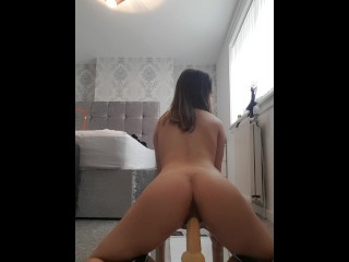Slut Rides Dildo For Daddy - Part 2