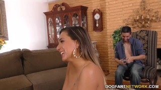 Jaye Summers Gets Special Gift From Her Cuckold BF  big black cock cuckold blowjob pornstar small tits fetish hardcore interracial dogfartnetwork brunette 3some gagging deepthroat threesome