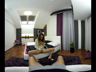 Nicole Vice dances at a stripper pole and fucks you in VR