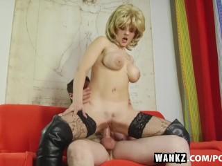 WANKZ- Busty Martina Gets Cum Splattered