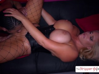 Karen Fisher strip down and get fucked by a huge black cock