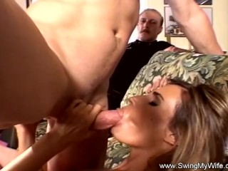 Pretty Blonde Swinger Wife Fucks A Male Pornstar