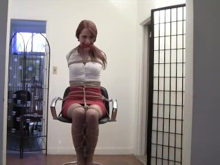 Maddy on a chair