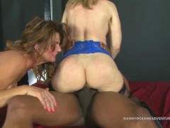 DOCEAN 2 Hot MILFS Fuck Black Dick and Squirt