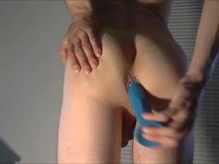 Dildo fucking my boy pussy