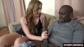 Wife Chrissy Curves takes BBC anally while husband eats cum  ass fuck vaginal sex big cock cuckold couple wife blowjob dothewife big dick hardcore interracial anal housewife pussy licking chrissy curves