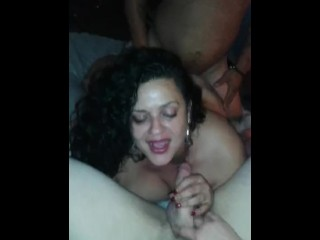 Allision and Disirrono Joe plus hubby in a threeway bang.Joe throws it hard
