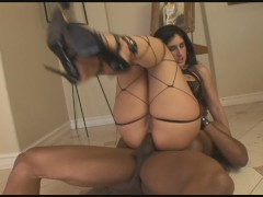 Latina MILF With Big Booty Rides Her Sex Slaves Black Cock
