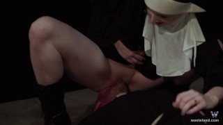 Hot Nun Gives Blowjob & Femdom Face Sitting  fem dom role play face sitting facesitting femdom blonde kink baddragon2017 sister religious priest cosplay delrawr nun brother reverse prayer