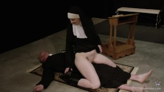Hot Nun Gives Blowjob & Femdom Face Sitting  role play face sitting facesitting cosplay femdom nun blonde sister kink religious priest brother baddragon2017 delrawr fem dom reverse prayer