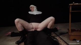 Hot Nun Gives Blowjob & Femdom Face Sitting  fem dom role play face sitting facesitting cosplay femdom blonde sister kink brother baddragon2017 religious priest delrawr nun reverse prayer