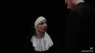 Hot Nun Gives Blowjob & Femdom Face Sitting  fem dom role play face sitting facesitting cosplay femdom nun blonde kink baddragon2017 sister religious priest delrawr brother reverse prayer