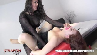 Femdom Strapon Jane spanks slut pussy toys face fucks and missionary sex  hot wax big tits spanking strapon bdsm femdom masturbate amateur missionary domination hardcore milf brunette bondage straponjane face fuck toying adult toys