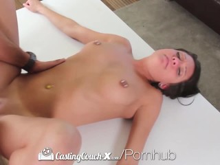 CastingCouch X Pierced nipples Brooke Myers fucks casting agent