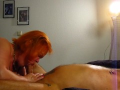 Bitch Tina Licks The Husband Ass With His Pierced Dick Squirts In His Mouth