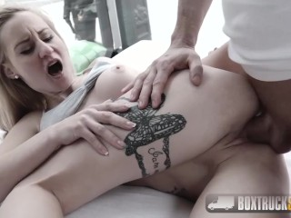 Amazing Helena Valentine gets a load over her ass