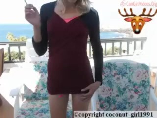 Smoking Babe Toy Webcam control tips coconut_girl1991_111216 chaturbate REC