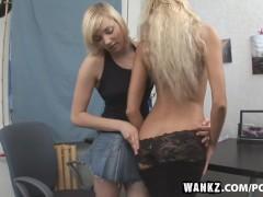 WANKZ- Blond Lesbians Ass Licking