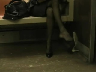 NYC Subway Shoe Dangle