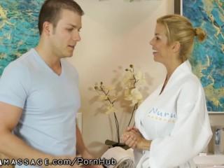 NuruMassage Alexis Fawx Nurses Shy Young Man's Cock