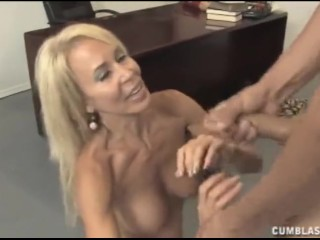 Big cumshot for the mature teacher