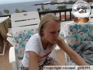 Slim Teen Model Balcony coconut_girl1991_091216 chaturbate REC