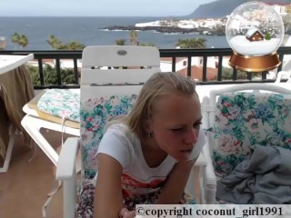 Wind on my little balcony Skirt wach coconut_girl1991_091216 chaturbate REC