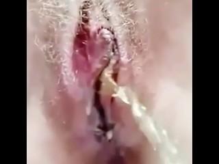 Golden Shower POV close up