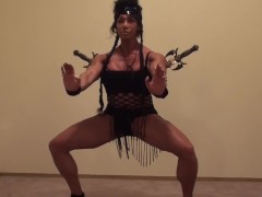 Marital Arts Female Bodybuilder Could Slice and Dice You, Kick Your Ass!
