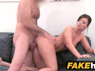 Fake Agent - Model Vicky Love takes Cumload on her Great Tits