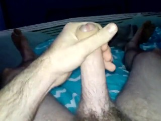 jerking my dick and cumming